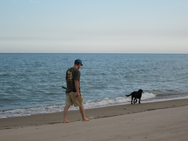 Walking Belle on the Beach