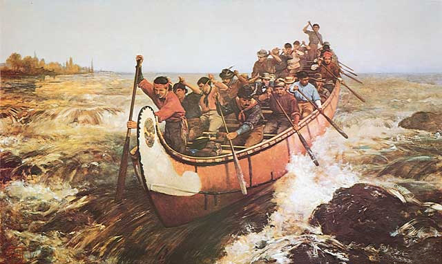 Shooting the Rapids (1879), By Frances Anne Hopkins