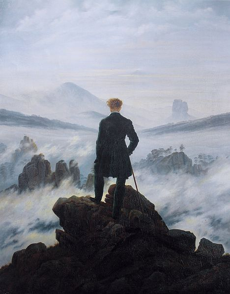 The Wanderer Above the Sea of Fog, By David Friedrich Caspar (1818)
