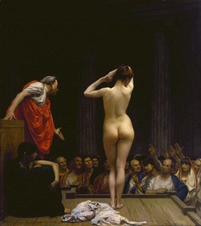 A Roman Slave Market, by Jean-Leon Gerome (1884)