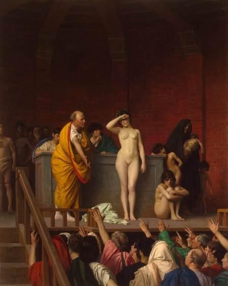 A Slave Market in Rome, Jean-Leon Gerome