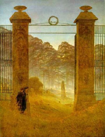 Caspar_David_Friedrich_Cemetery_at_Dusk (1825)