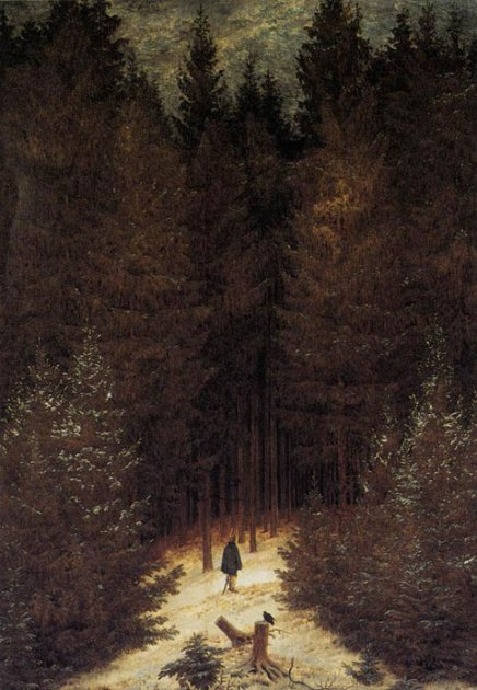 Forest Wanderer by Caspar David Friedrich