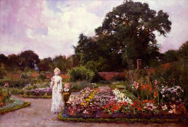 Henry John Yeend King, Victorian_garden