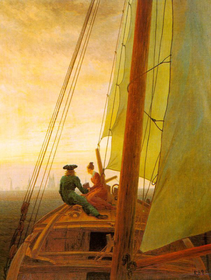 On board a Sailing Ship, by Caspar David Friedrich