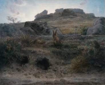 Jean-Francois-Millet - Rabbit Warren at Dawn-1867