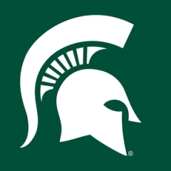 Spartan logo white on green