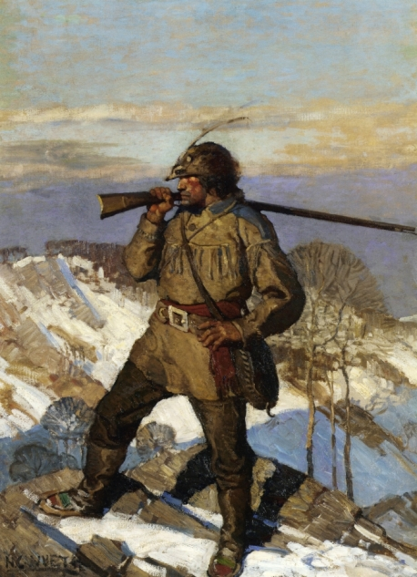 the-frontiersman-N.C. Wyeth (1911)