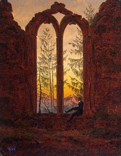 The Dreamer, by Caspar David Friedrich (1835)