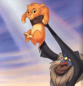 Rafiki displaying Simba