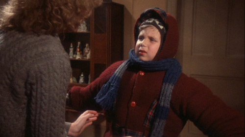 Christmas Story kid bundled up
