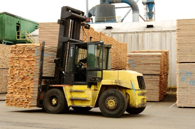 Large Forklift - Large Load