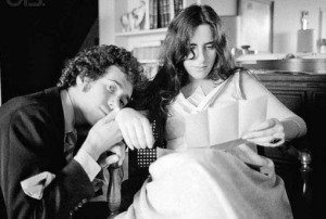 Laura with David Geffen in '68