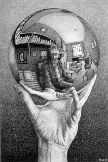 MC-Escher-Hand-with-Reflecting-Sphere-1935